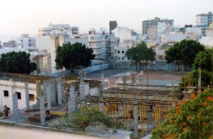Elevación del edificio de la nueva ala central