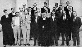 Comunidad educativa del colegio en el curso 1959-60