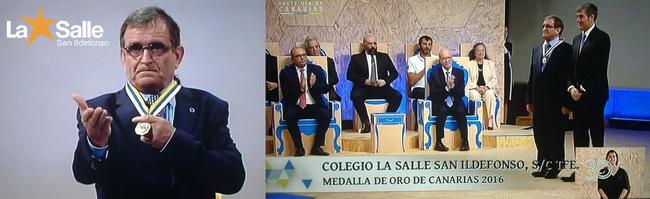 Medalla de oro de Canarias otorgada por el Gobierno de Canarias
