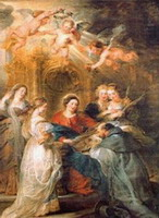 Visión de San Ildefonso, Peter Paul Rubens, 1630-1632