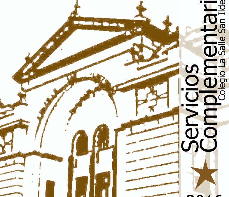 Servicios Complementarios para el Curso 2016/2017