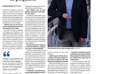 Entrevista a nuestro Director publicada hoy en prensa El Día