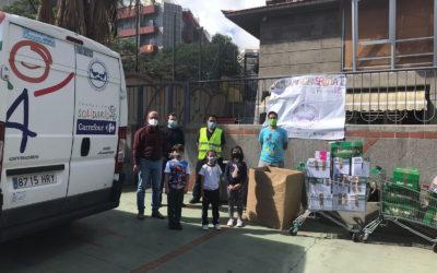 Camión solidario del banco de alimentos