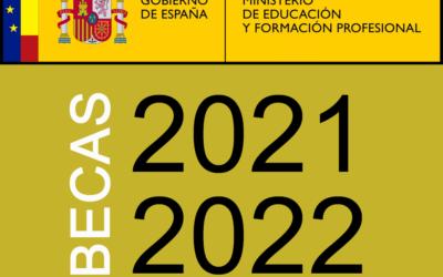 Información sobre Becas y Ayudas del «Ministerio de Educación y Formación profesional» para alumnado con necesidad específica de apoyo educativo para el curso académico 2021-2022