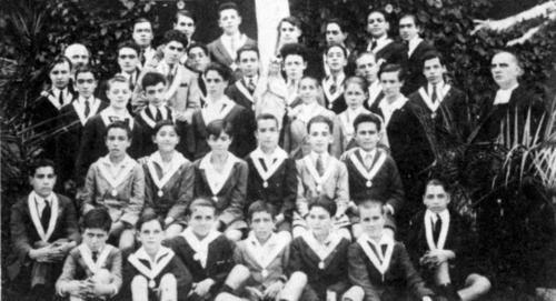 Congregantes de María Inmaculada en 1924